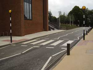 Zebra crossing at the University of Sussex